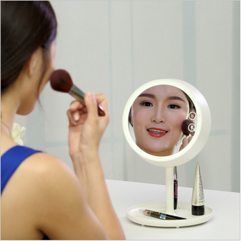 Hot Sale Fashionable Design Lighted Makeup Mirror With 7 Colors LED Light