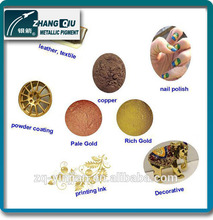 Leafing flaky bronze powder for textile printing
