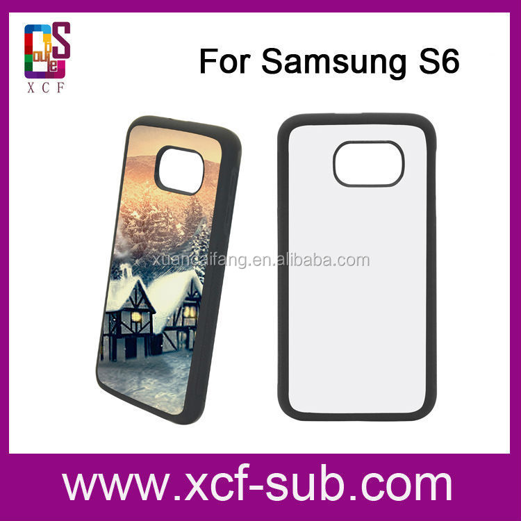 China supplier 2d sublimation case for samsung galaxy s6,sublimation phone cover case