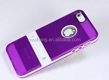 Hot selling TPU+pc Stand holder Cover phone case For iphone5