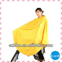Waterproof Cheap Yellow Red Polyester Pvc Bicycle Rain Poncho