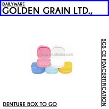 colorful cheap clean denture case as see on TV
