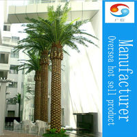 Indoor artificial ferns palm tree tropical plants artificial macrophytes for home decoration