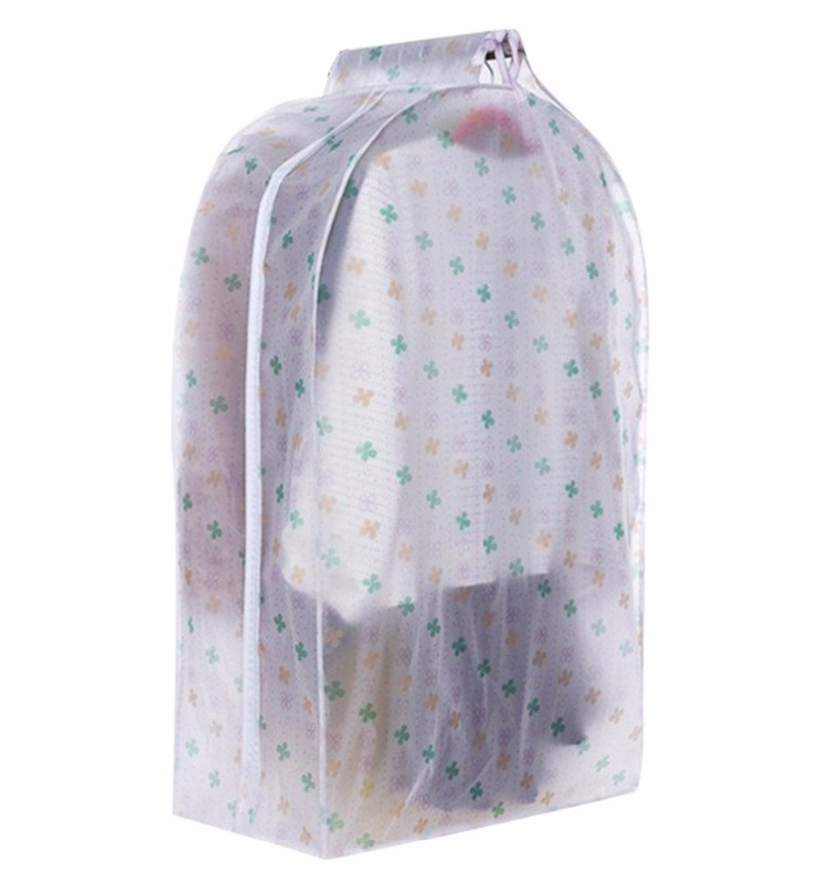 See-through wide travel garment suit clothes covers bags clothes storage organizer