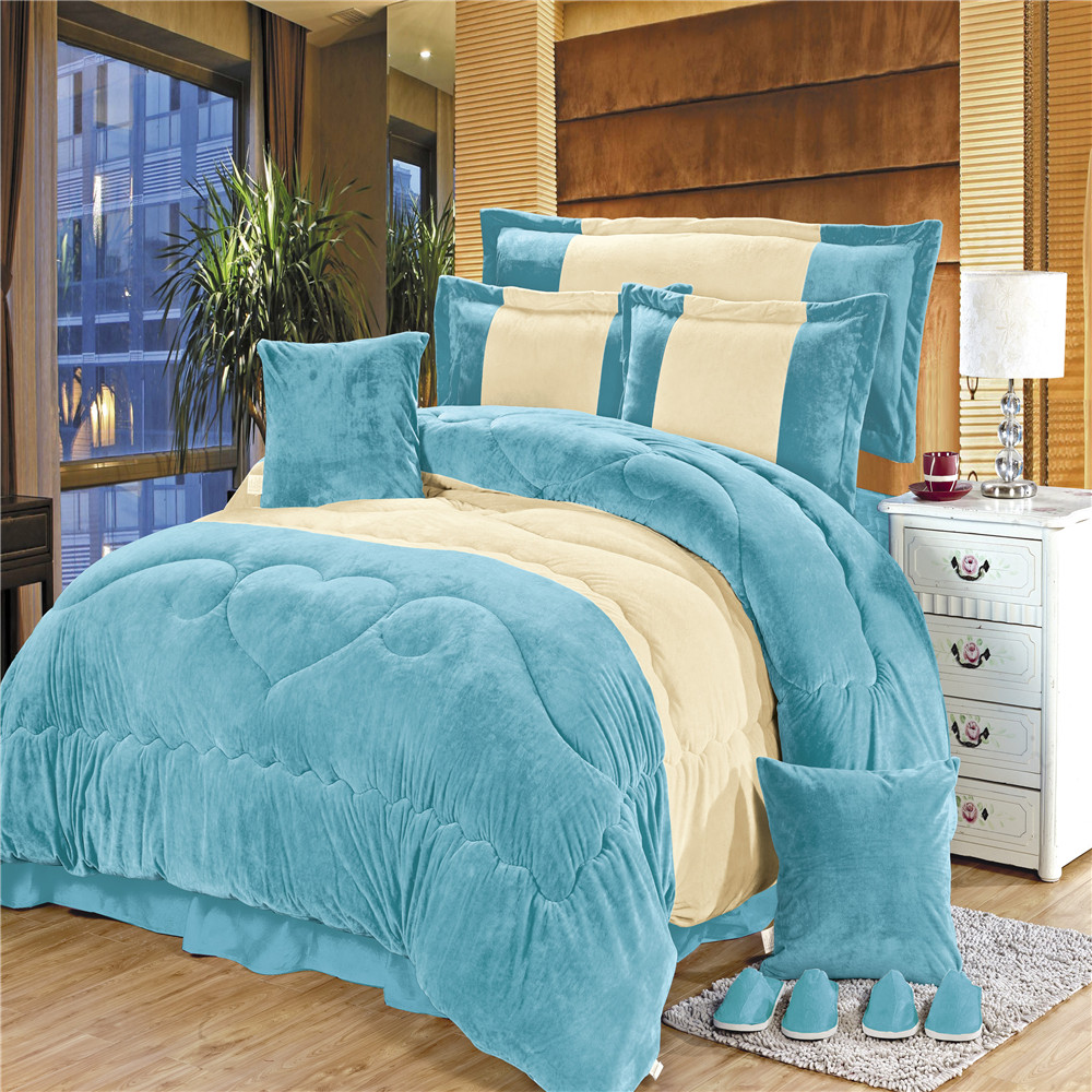 Close skin fabric color match Chinese bed cover sets