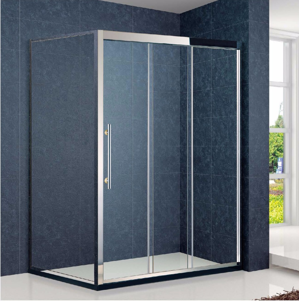3-Connect-Move Sliding Folding Bath Shower Screen Cabin(KT4201)