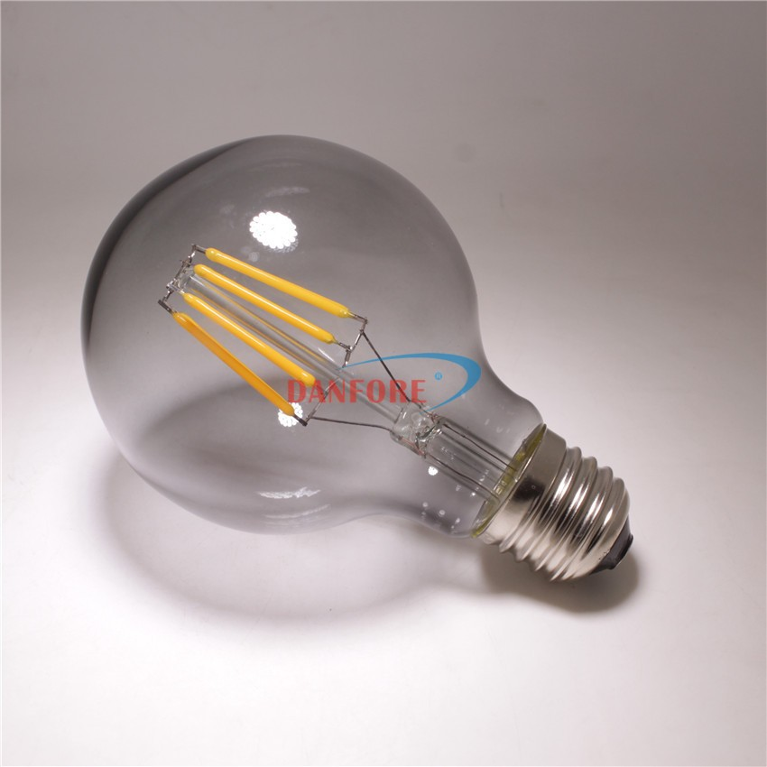 New products 2016 G25 G80 LED filament lamp with smoked tint glass