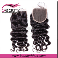 alibaba express 100 human hair cheap free parting lace closure