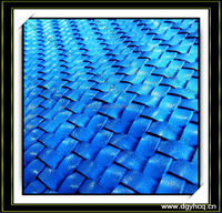 customized durable braided weave leather carpet for wall decoration