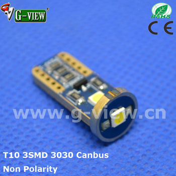2017 New T10 error free 3030 canbus led 3smd 12V non polarity auto led canbus