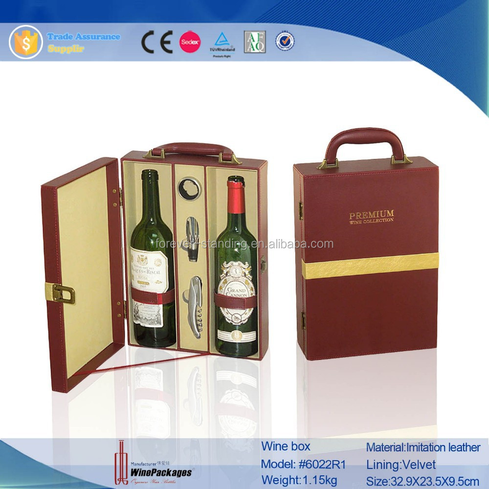 Trade Assurance manufacture wholesale leather wine packaging box,custom packaging small quantity