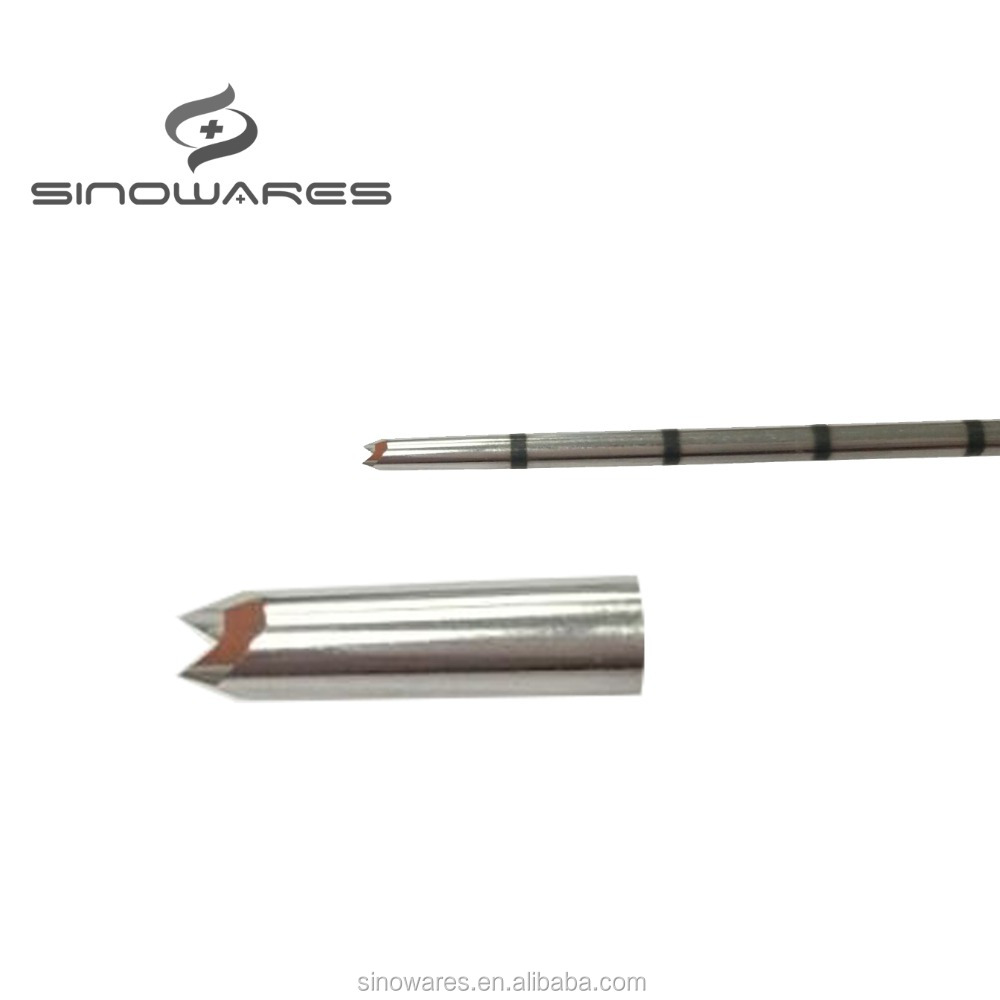 Custom Stainless steel bone marrow biopsy needle with bevel end