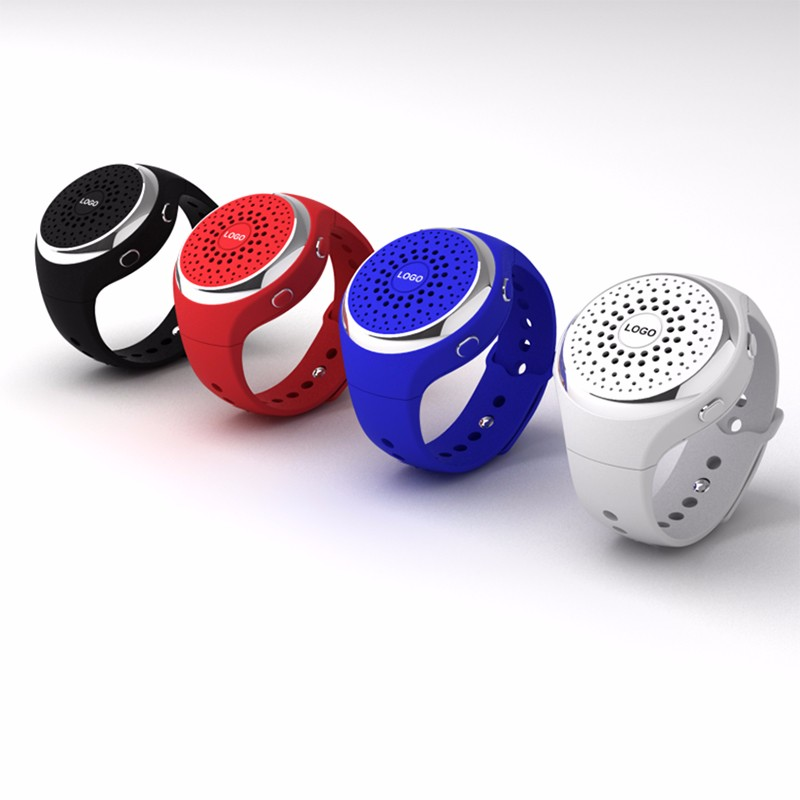 Wearable S6 Wireless Bluetooth Watch Speaker for Hands-free Answer Calls Sports Music Selfie FM Function