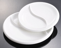 Wholesale Restaurant Hotel Party Wedding Banquet Super White Excellent Quality Ceramic Porcelain 2 3 4 5 6 Compartment Plate