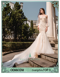 2018 Nova vestido de Baile 3D Rendas Applique Capela Trem Do Vestido de Casamento vestido de Noiva Fora Do Ombro