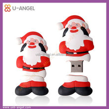OEM Santa Claus USB,DIY Christmas gift usb flash memory, USB flash drive christmas gift