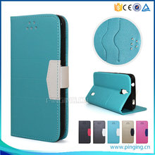 Hot Selling flip leather cover for alcatel one touch idol 4S , wallet case for alcatel one touch idol 4S