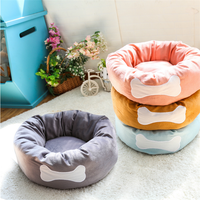 2017 winter doghouse Round soft short plush fabric pet kennel Kennel