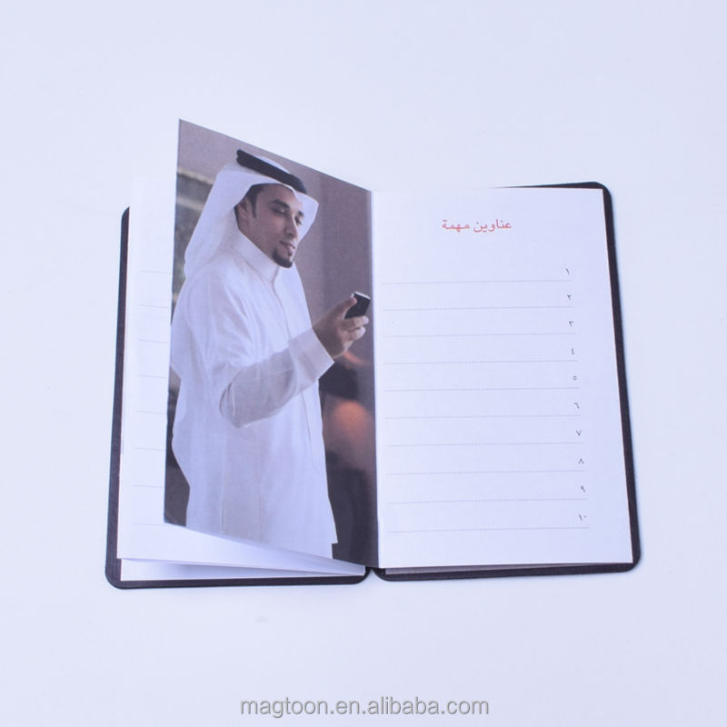 personalized Arab style cheap mini pocket telephone address book with magnetic closure