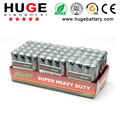 High quality mercury free 1.5V aa carbon zinc battery/ super heavy duty dry battery