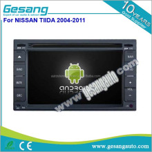 New Android 6.0 double din universal car dvd player for Nissan Tiida 2004-2011