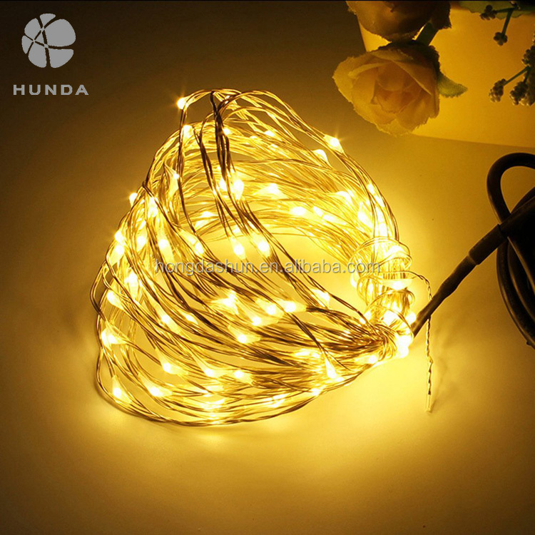 100 LEDs Custom Decor Rope Lights 33ft Copper Wire Fairy String Light in Outdoor, Christmas