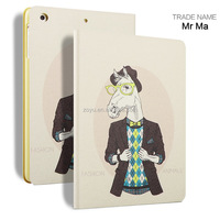 cow animal cover case and cover for ipad mini, fashion leather case for ipad