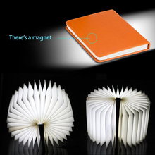 Factory Price USB Rechargeable Saving LED Light Book Shape Table Lamp