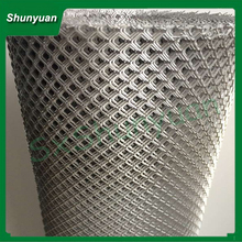 l shaanxi shunyuan 11*50 hexagonal aluminum expanded metal mesh for decoration / construction/ houseing- ceiling/ wall curtain