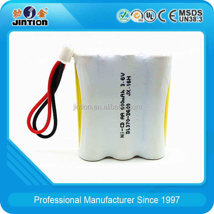 ni cd aa 600mah 3.6 v Rechargeable battery pack customize