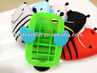 whosale new 3D cute animal custom mobile phone case, bee shape silicone case, popular silicone phone case