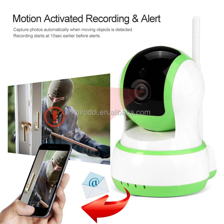 Light Weight Motion Detection Rotates and Pans Wifi IP Camera Wireless 720P Security Web Cam