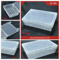 Top selling European market transparent home storage hinged plastic box