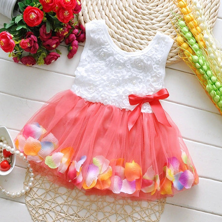 2016 New Fashion Party Cotton Children Girl Dress