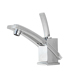 Hot sale sanitary ware UPC single lever waterfall cold and hot basin faucet for bathroom,Single hole mixer tap faucet