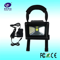 China Shenzhen factory hot sales 10W rechargeable led flood light with 8 hours lighting period