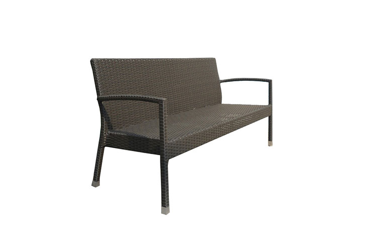 Best selling garden furniture outdoor weaving rattan dining bench chairs