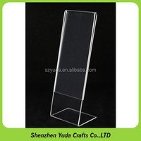 Free shipping!! acrylic sign holder poster holder clear L shape 2x6 photo booth frame