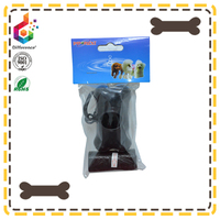 Pet waste bag with bone shaped dispenser