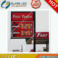 "12"" Red led oil price rate display/led fuel price sign display/perfume oil display"