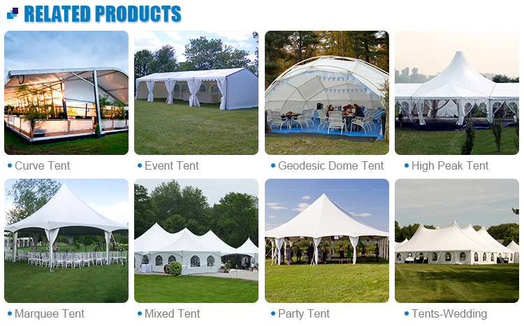 Fashion high quality white transparent marquee wedding party tents 500 people