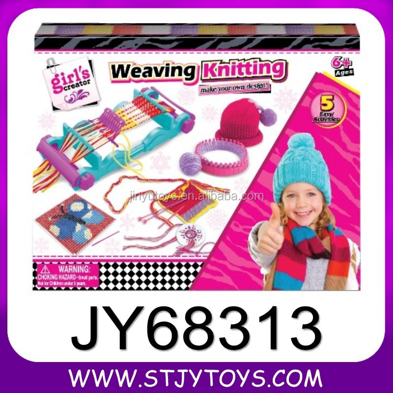 weaving machine toy for kids diy multi-functional weaving kniting
