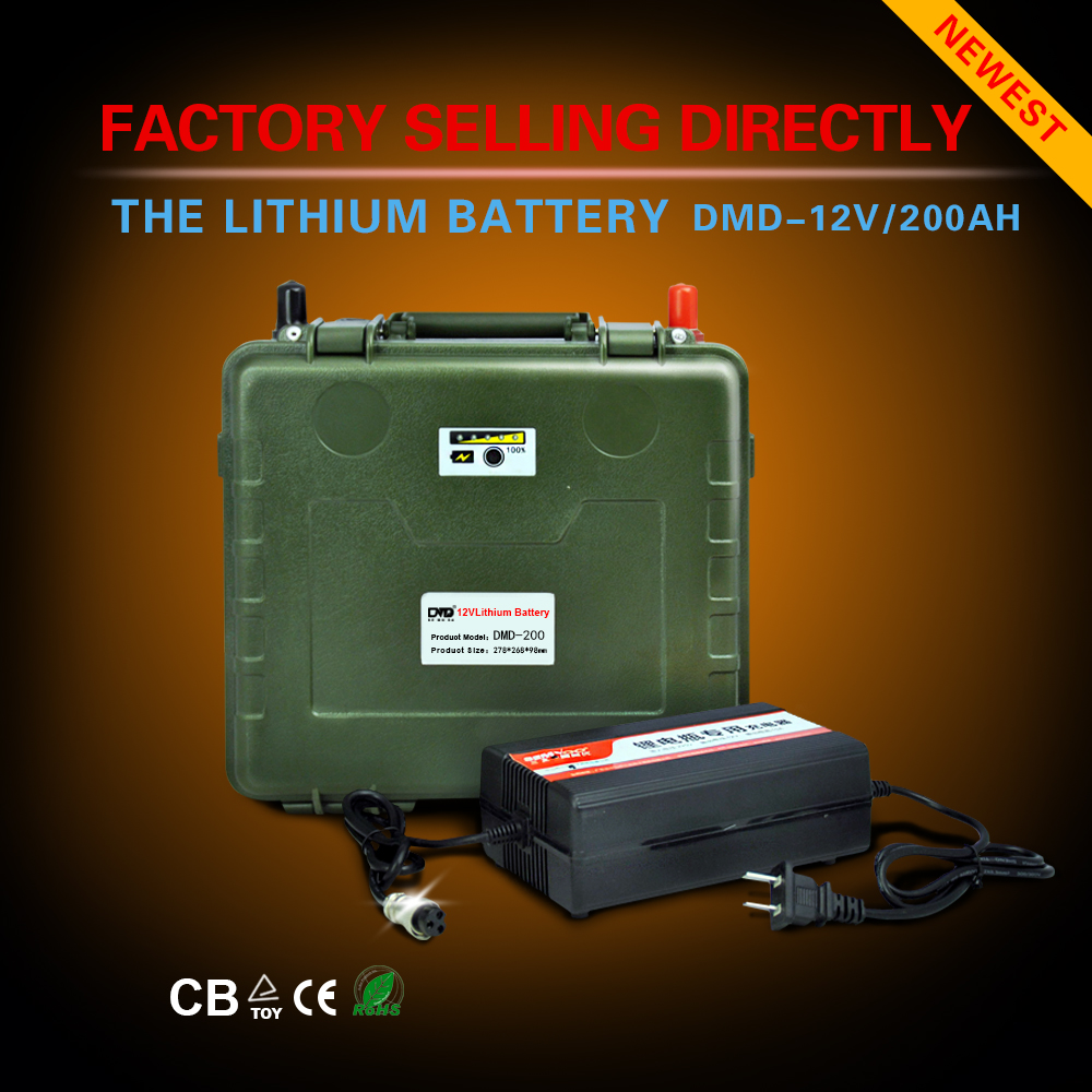 Portable Super Rechargeable Lithium Ion battery pack capacity DC 12V 60AH 80AH 100AH 160AH 200AH