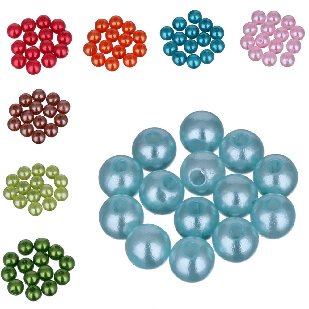 200pcs/lot 5A Quality!6MM Mixed Color Fashion Round Acrylic Pearl Spacer Loose Beads DIY Jewelry Making Wholesale