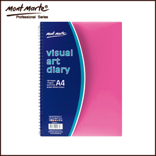 High Quality Bright White Colour 120 Pages Visual Art Diary
