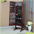 Top selling wooden mirrored jewelry cabinet on Amazon