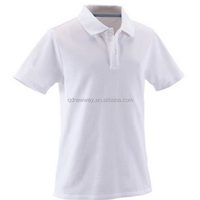 Men's Cheap Polo White Blank T Shirts For Printing Promotion and Advertising T Shirt Wholesale China