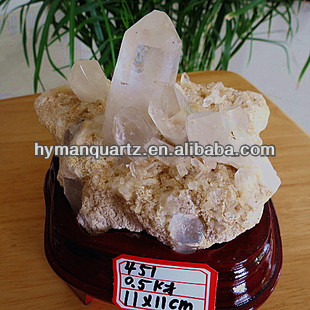 High quality 100mm diameter natural white crystal small crystal cluster,Feng Shui crafts