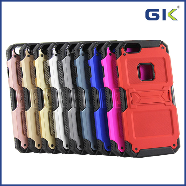 [GGIT] Smart Design PC TPU Combo Hard Case for iPhone 6 Back Cover with Stand
