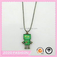 Cartoon robot necklace wholesale cheap price